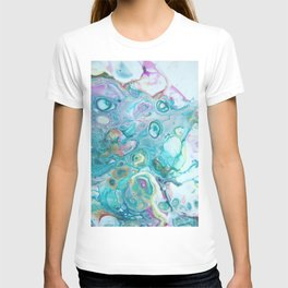 Fluid Nature - Candyfloss Tendrils - Abstract Acrylic Pour Art T-shirt
