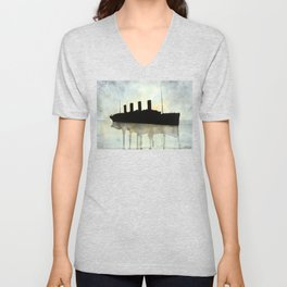 Titanic watercolour Unisex V-Neck