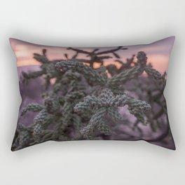 Baja California Cactus at Sunset Rectangular Pillow