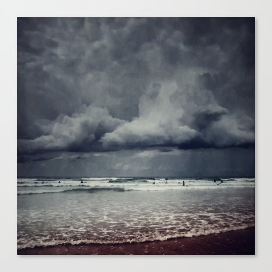 elemental - surf and clouds Canvas Print
