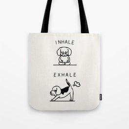 Inhale Exhale Beagle Tote Bag