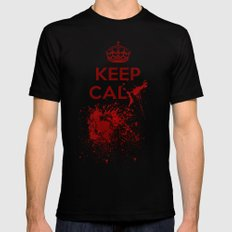 Keep calm? MEDIUM Black Mens Fitted Tee