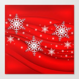 Abstract background with snowflakes Canvas Print