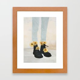 My Boots Framed Art Print