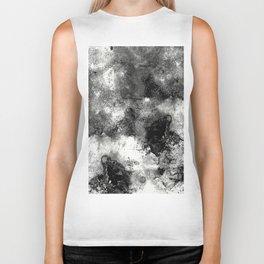 Deja Vu - Black and white, textured painting Biker Tank