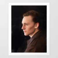 tom hiddleston Art Prints featuring Hiddleston by Andi Robinson