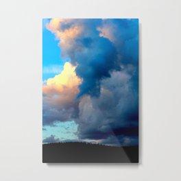 Abstract Color Swaths Metal Print
