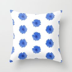Patterned Dahlia Throw Pillow