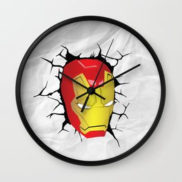 IRON CRACK Wall Clock