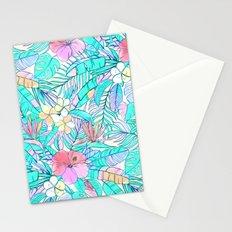 Pretty Pastel Hawaiian Hibiscus Print Stationery Cards