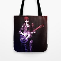 u2 Tote Bags featuring U2 / The Edge by JR van Kampen
