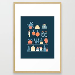 Kitchen shelves Framed Art Print