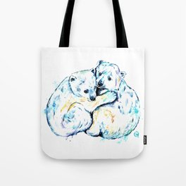 Polar Bear Brothers - Watercolor Painting Tote Bag