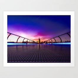 St. Paul's at night Art Print