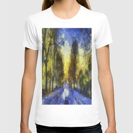 Greenwich Park London Van Gogh T-shirt