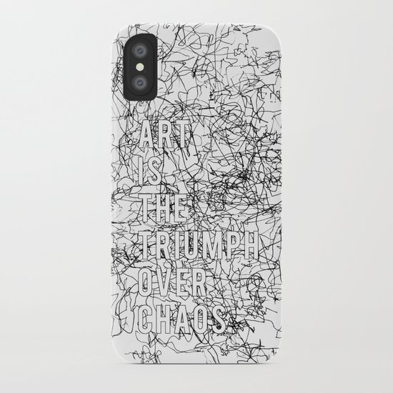 Triumph Over Chaos. iPhone Case