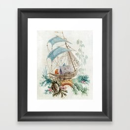 Chinoiserie Embroidery Framed Art Print