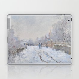 Snow Scene at Argenteuil by Claude Monet Laptop & iPad Skin