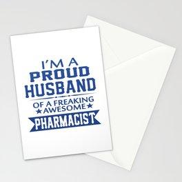 I'M A PROUD PHARMACIST'S HUSBAND Stationery Cards