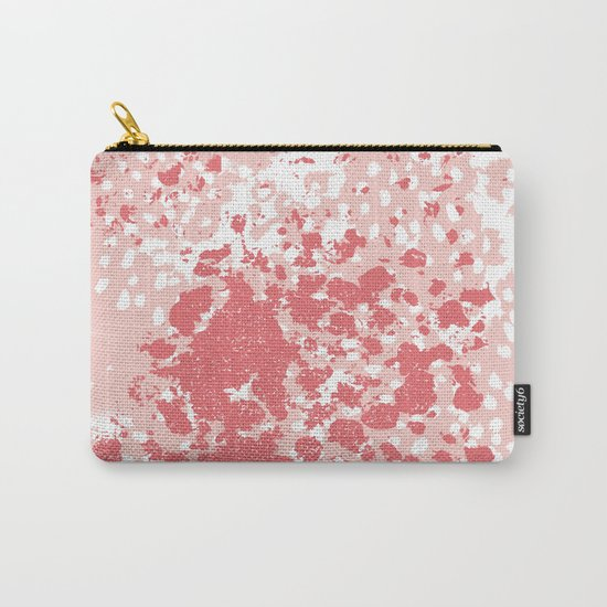 Abstract minimal pink and coral painting home decor abstract charlotte winter art Carry-All Pouch