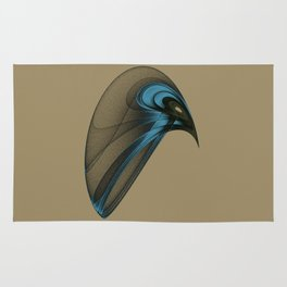 Fractal Bird with Sharp Beak Rug