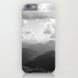 Mountain Ridges and Clouds Alps Alpine Landscape iPhone Case