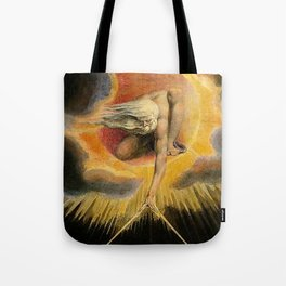 The Ancient Of Days Painting William Blake Tote Bag