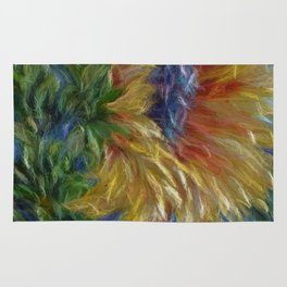 Sunflower Painting Rug