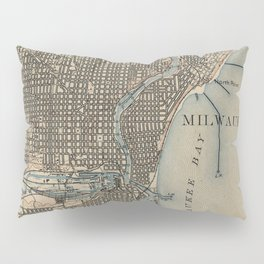 Vintage Map of Milwaukee Wisconsin (1899) Pillow Sham