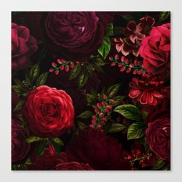 Mystical Night Roses Canvas Print