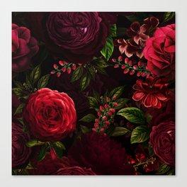 Vintage & Shabby Chic - Vintage & Shabby Chic - Mystical Night Roses Canvas Print