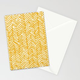 Boho Mudcloth Pattern, Summer Yellow Stationery Cards