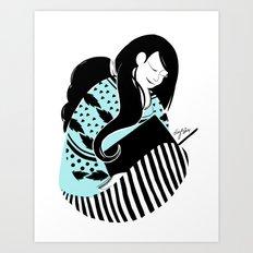 Joy of a good book Art Print