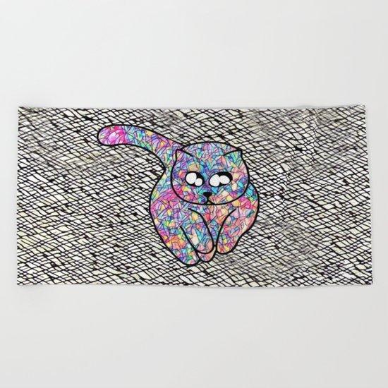 cat-948 Beach Towel