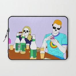 Snowflake Makes Trouble Laptop Sleeve