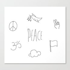 Peace to the world Canvas Print