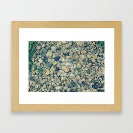 Pebble in the brook Framed Art Print