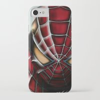 spider man iPhone & iPod Cases featuring Spider-Man by Inspirations