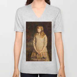 John Everett Millais - 'Sweetest eyes were ever seen' Unisex V-Neck