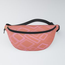 Retro pattern in shades of melon Fanny Pack