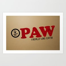 PAW Life - I Like Cats! Art Print