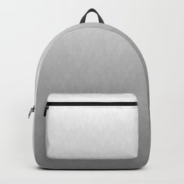 White to gray ombre flames Backpack