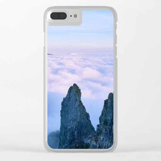Nature's Cotton Candy Clear iPhone Case