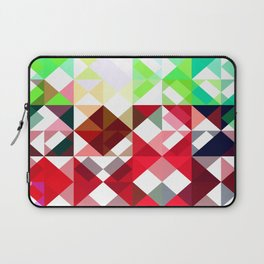 Mixed color Poinsettias 3 Abstract Triangles 1 Laptop Sleeve