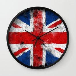 Vintage flag UK Wall Clock