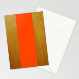 Stripe and Wood Stationery Cards
