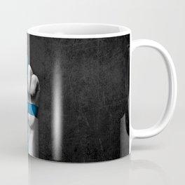 Finnish Flag on a Raised Clenched Fist Coffee Mug