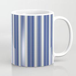 Blue and Cream Stripes Coffee Mug