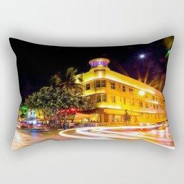 Art Deco Cardozo Hotel South Beach, Miami Night Scene Portrait by Jeanpaul Ferro Rectangular Pillow