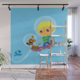 hover boarding future boy Wall Mural
